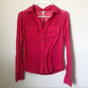 NWT Aeropostale Hot Pink Button Down